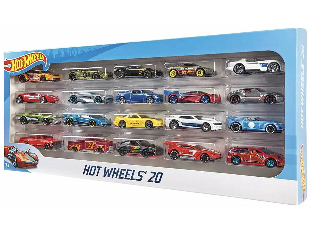 Hot Wheels Pack 20 Vehículos Mattel H7045