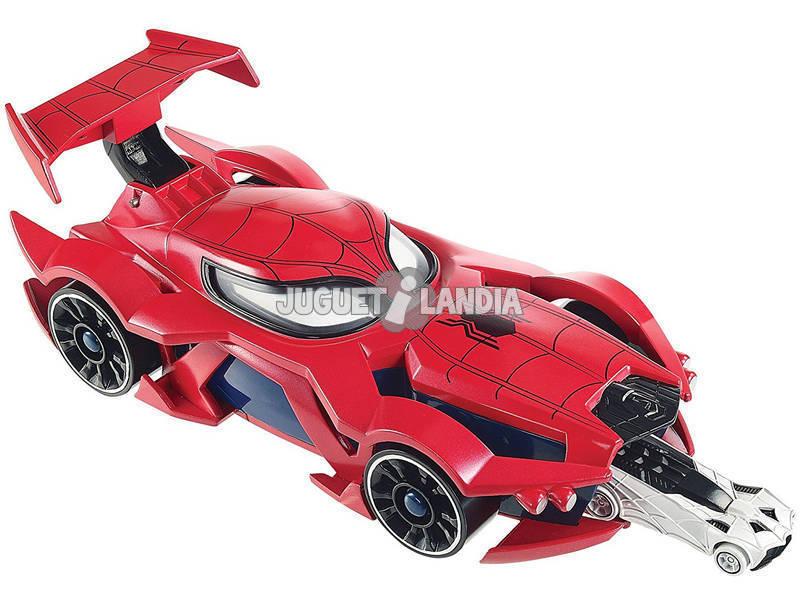 Acheter hot wheels voiture lanceur de spiderman mattel - Voiture spiderman ...