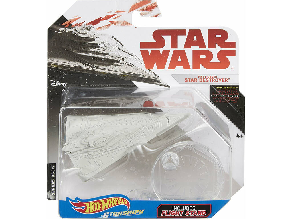 Star Wars E8 Nave Espacial Hot Wheels. Mattel FBB03
