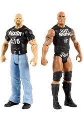 WWE Pack 2 Figurines Tough Talkers 15 cm