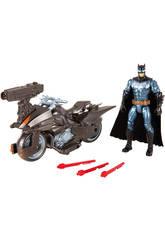 Justice League Batmoto con Figura 15 cm Mattel FGG53