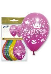 Aufblasbare Ballons Gold Prinzessin GWolflandia