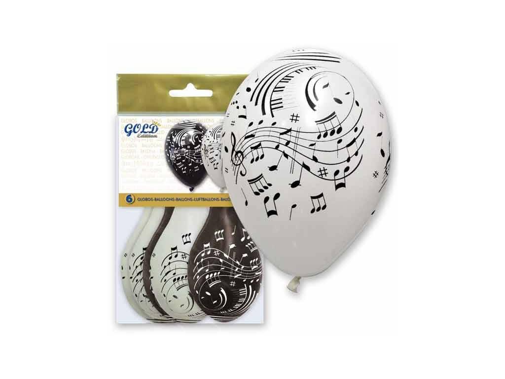 Balões Insufláveis Gold Notas Musicais Globolandia