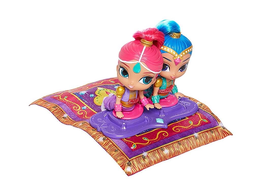 Bonecas Shimmer and Shine Tapete Mágico Voador 26x18x6cm Mattel FHN22