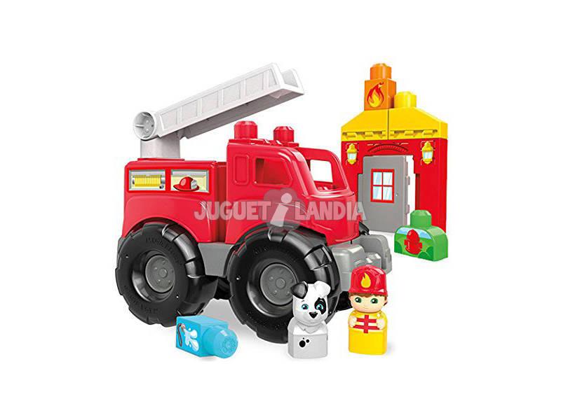 Camión Mega Bloks De Bomberos Mattel DXH38