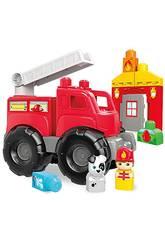 imagen Camión Mega Bloks De Bomberos Mattel DXH38