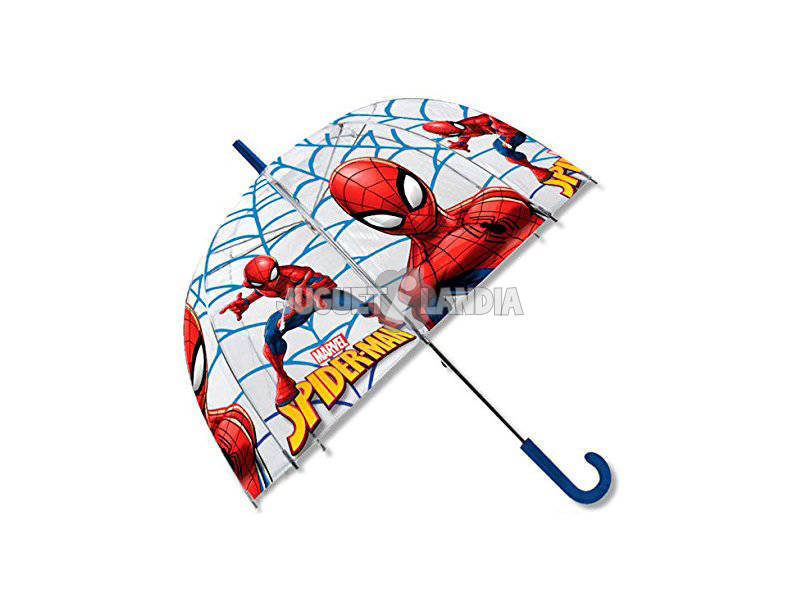 Spiderman Chapéu - de - chuva Manual Transparente Campana 48 cm. Kids Euroswan MV15283