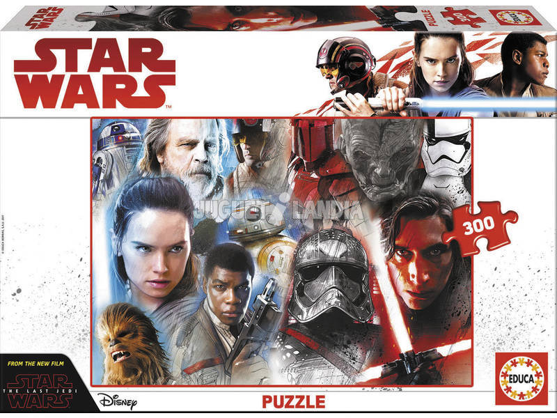 Quebra-cabeça 300 Episódio 11 de Star Wars The Last Jedi Educa 17463