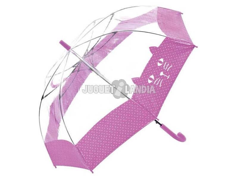Chapéu - de - chuva Transparente Juvenil 54/8 Bisetti 36170