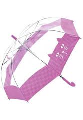 Regenschirm Jugendlich Transparent 54/8 Bisetti 36170