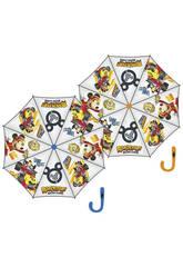 Parapluie 48/8 Manuel Transparent Mickey et Les Super Pilotes Arditex WD11605