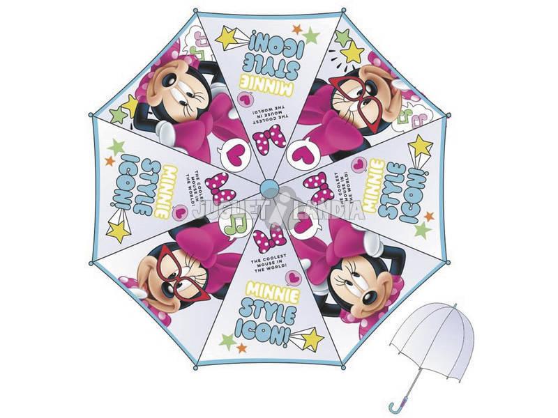 Chapéu - de - chuva Infantil Minnie 48/8 Manual Transparente com Cúpula Bisetti WD9751