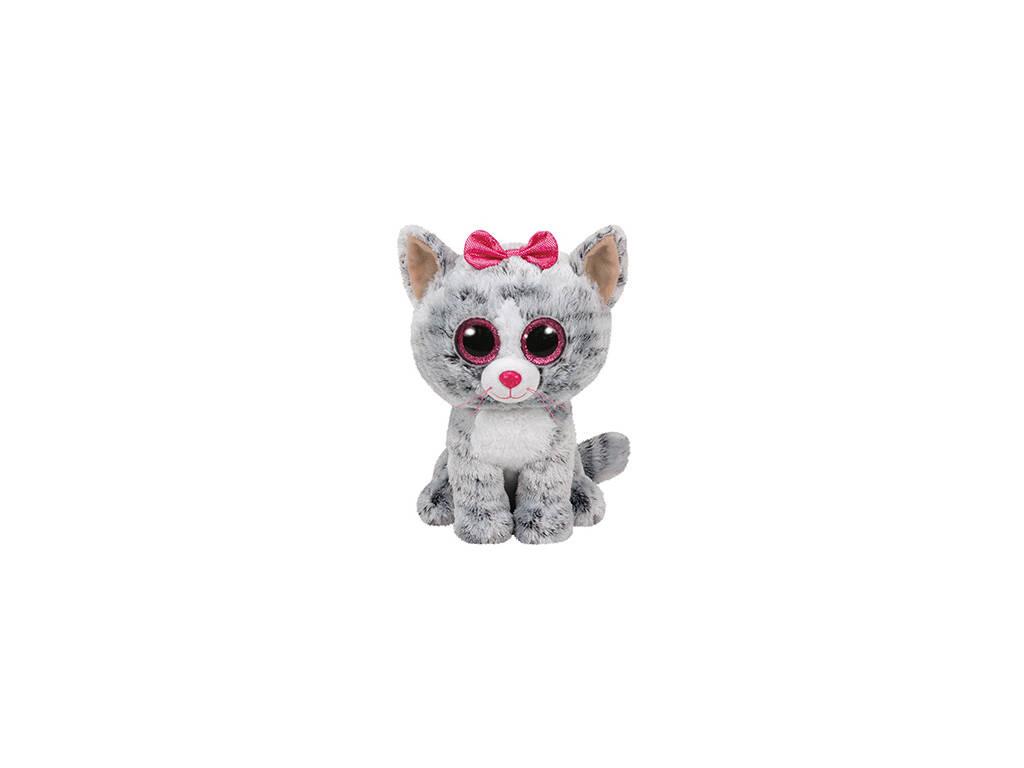 Cinzento Gato Kiki de Pelúcia 15 Cm