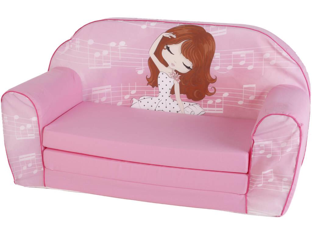 Sofa Bela Musical Rosa