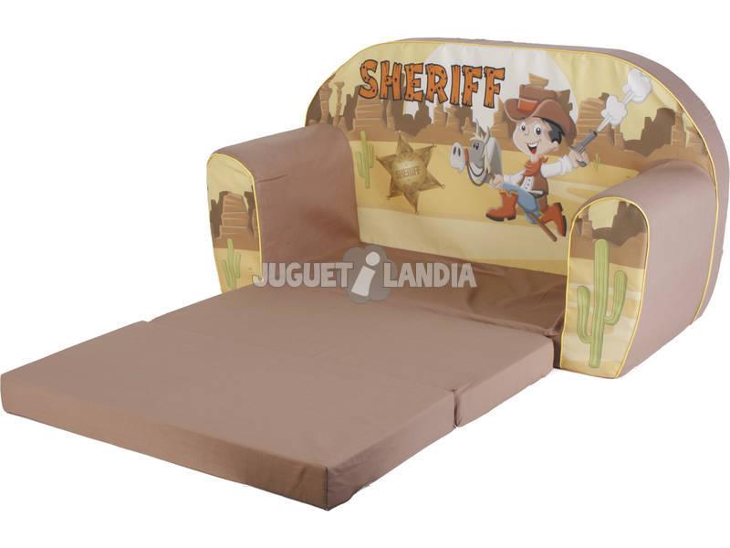 Divano dello scheriffo marrone juguetilandia for Divano wonder