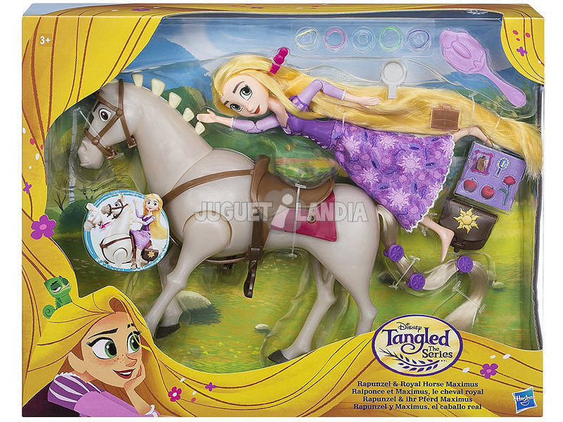 Boneca Rapunzel Cavalo Maximus Com Acessórios 19 cm HASBRO C2761