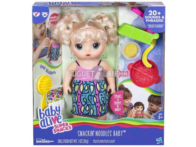 Boneca Baby Alive Deliciosos Espaguettis Accesorios y Frases 34 cm HASBRO C0963