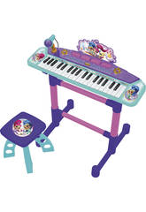Pianola con supporto e Sgabello Shimmer and Shine Claudio Reig 3523