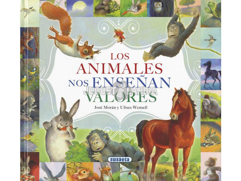 Livro Los Animales Nos Enseñan Valores (Os Animais Nos Ensinam Valores) Susaeta Ediciones S2046999