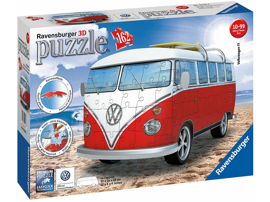 Puzzle 3D Building Pão de Forma Volkswagen Ravensburger 12516