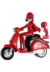 Figur Ladybug mit Motorrad 14cm Bandai 39880