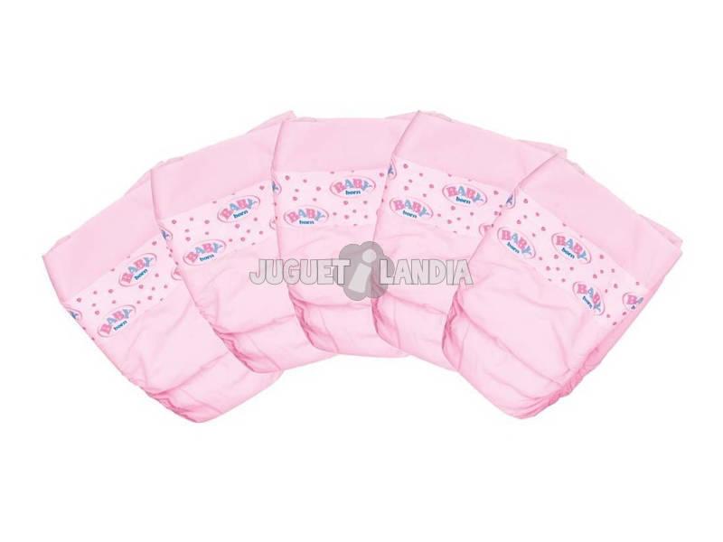 Accesorios Para Muñecas Pack 5 Pañales Baby Born Bandai 81581