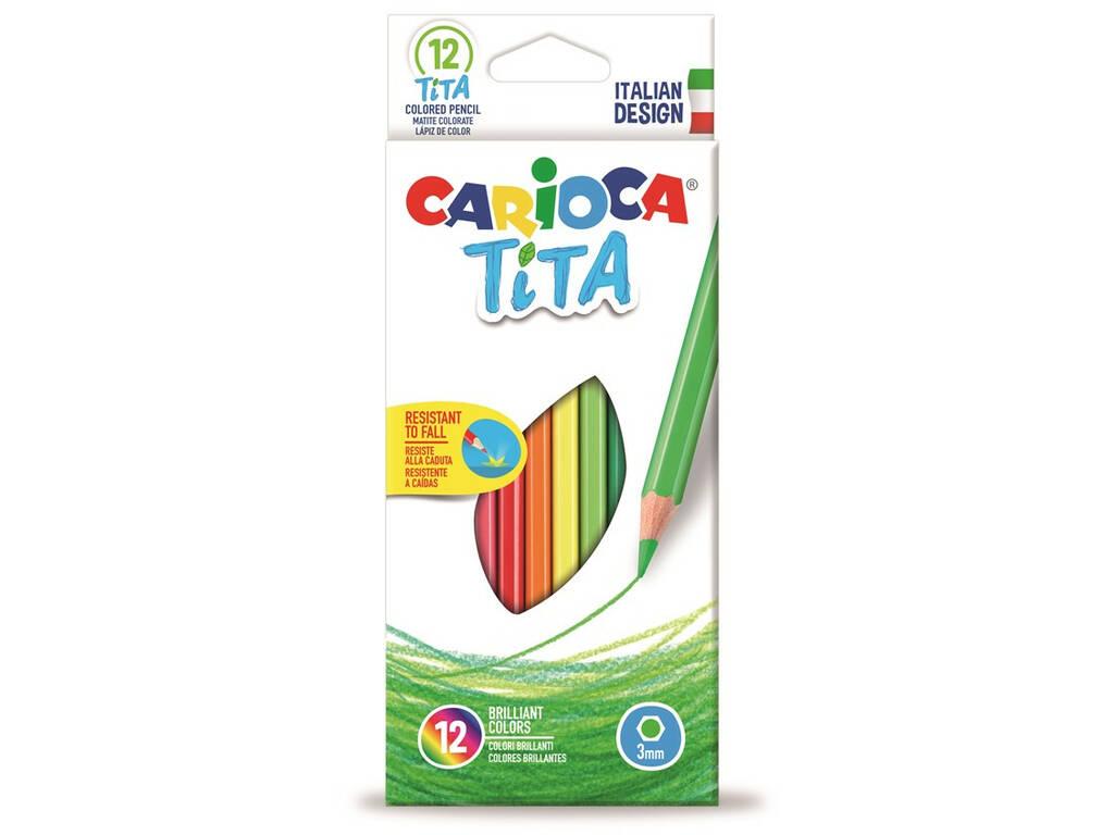 Caja 12 Lápices Tita Maxi Hexagonal Carioca 42789