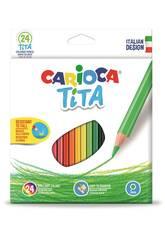 Caja 24 Lápices Tita Maxi Hexagonal Carioca 42794