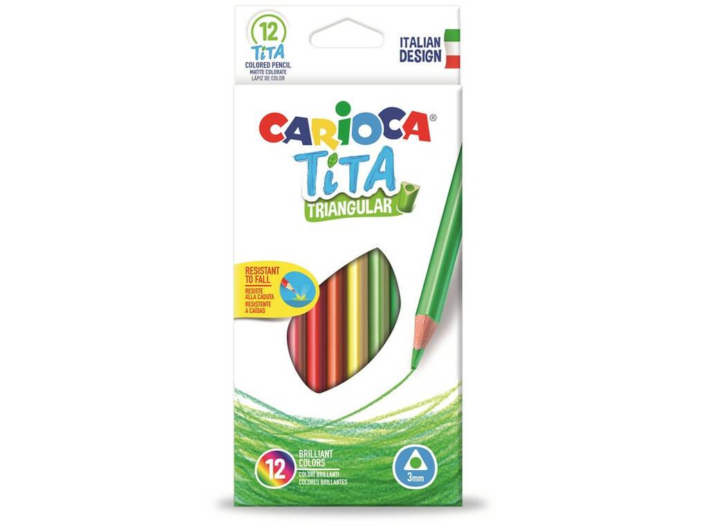 Caixa 12 Lápis Tita Triangular Carioca 42786
