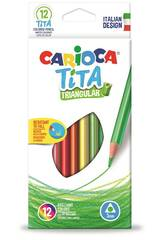 imagen Caja 12 Lápices Tita Triangular Carioca 42786