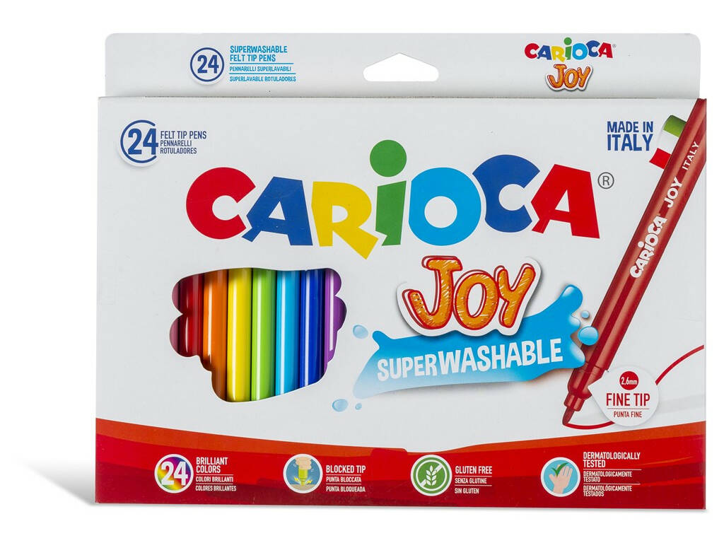 Caneta de Feltro Joy 24 Unidades Carioca 40615