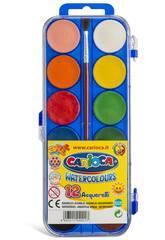 Aquarelles 12 unités avec Pinceau Carioca K040