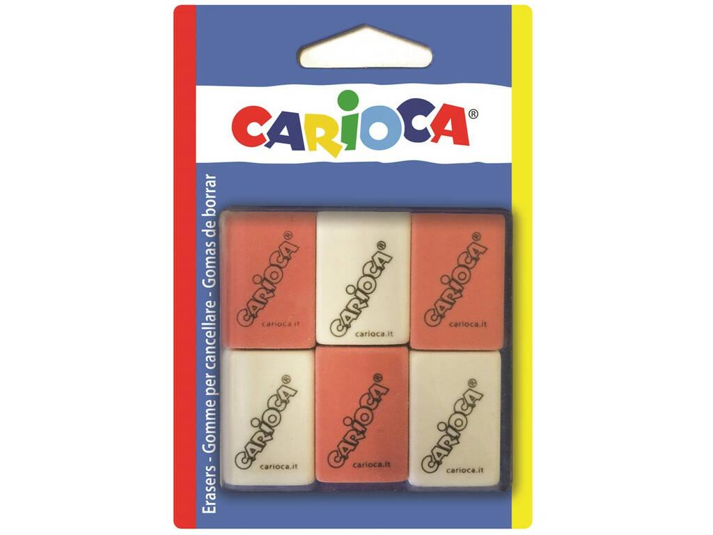 Gomas Borrar Cuadradas 6 unidades Carioca 42863