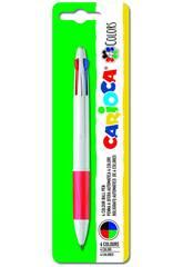 Bolígrafo Maxi 4 Colores Carioca 40145