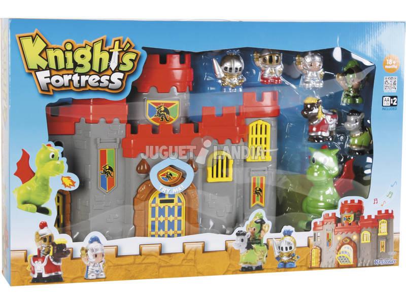 Castelo Cavaleiros com Dragão Luz e Sons