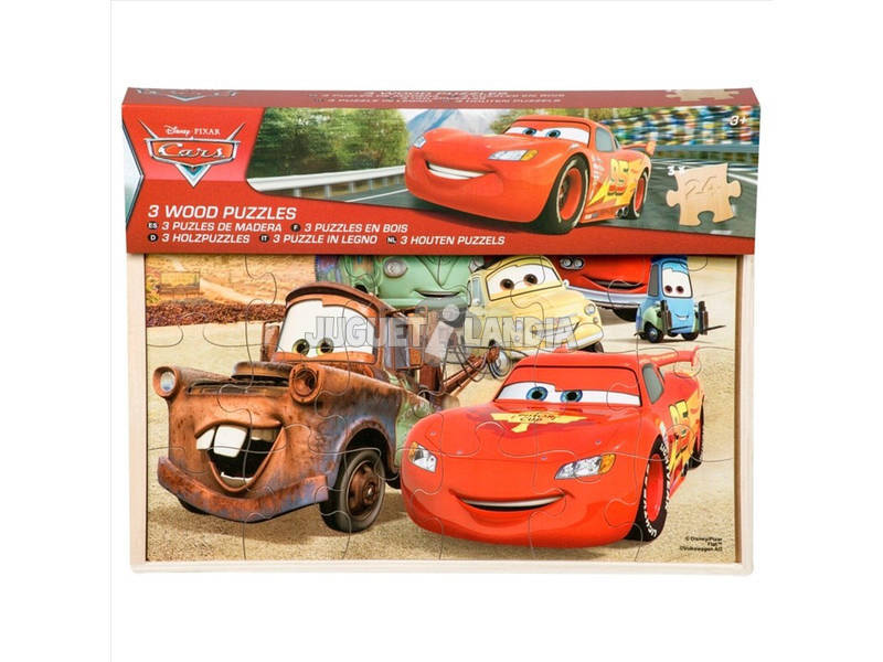 Cars Pack 3 Puzzles De Madeira Sambro DSC7 - 5518