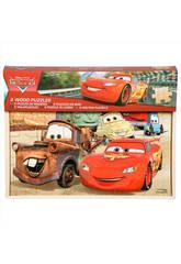 Cars Pack 3 Puzzles De Madera Sambro DSC7-5518