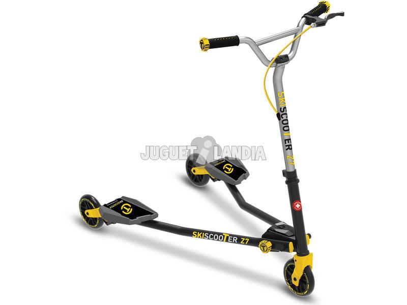 Patinete Scooter Z7 Preto - Amarelo Smart Trike 2221100