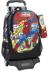 Mochila Carro Spiderman Safta 611743313