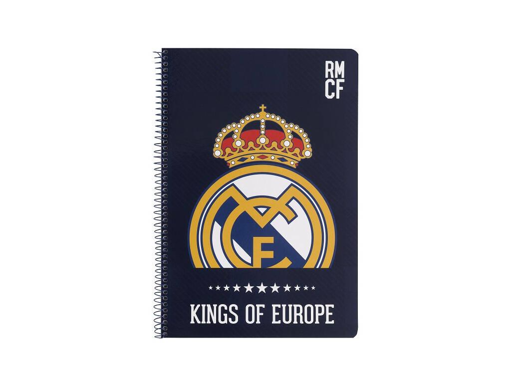 Caderno Capas Duras 80 Folhas Real Madrid Safta 511724066