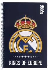 Cahier Couvertures Rigides 80 feuilles Real Madrid Safta 511724066