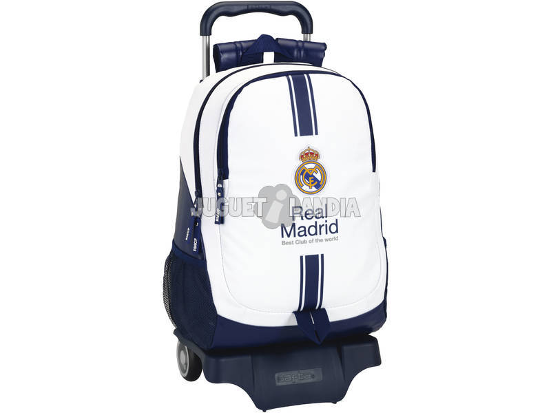Mochila Carro Real Madrid Blanco Safta 611654864
