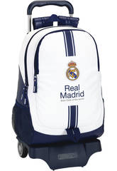 Sac à dos Trolley Real Madrid Blanc Safta 611654864
