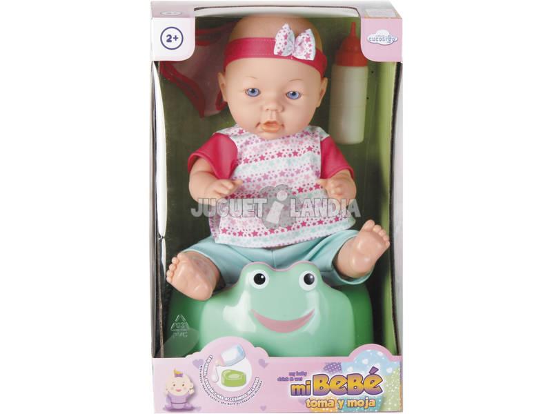 Boneco Bebé 40cm com Bacio e Acessórios.