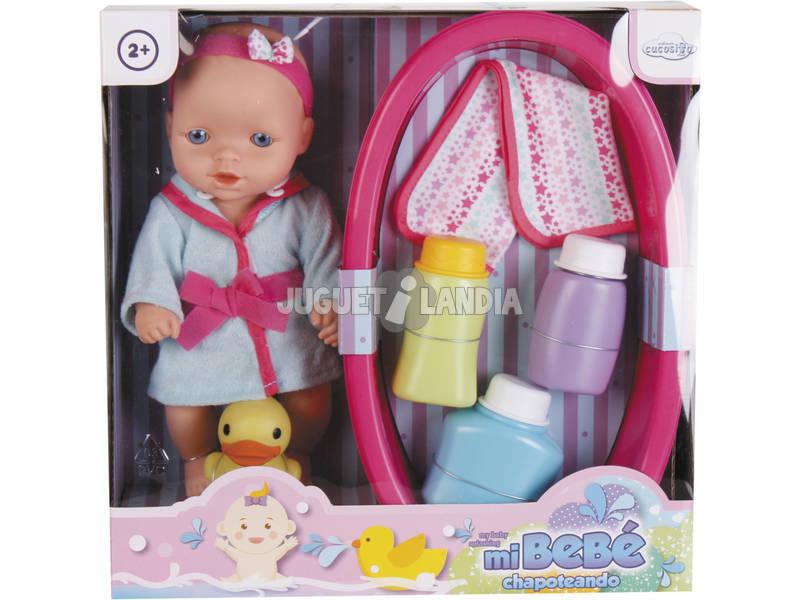 Muñeco Bebé 25cm con Set de Baño