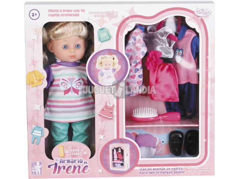 Boneca Irene 30cm com Armário e Acessórios