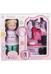 Muñeca Irene 30cm con Armario y Accesorios