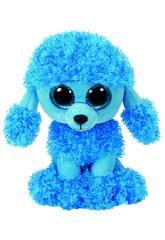 Pelúcia Mandy Poodle Azul 15 cm. Ty 36851