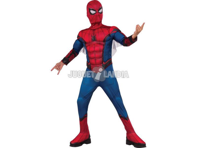 Disfarce Menino Homem Aranha Com Máscara e Peito Musculoso Tamanho L