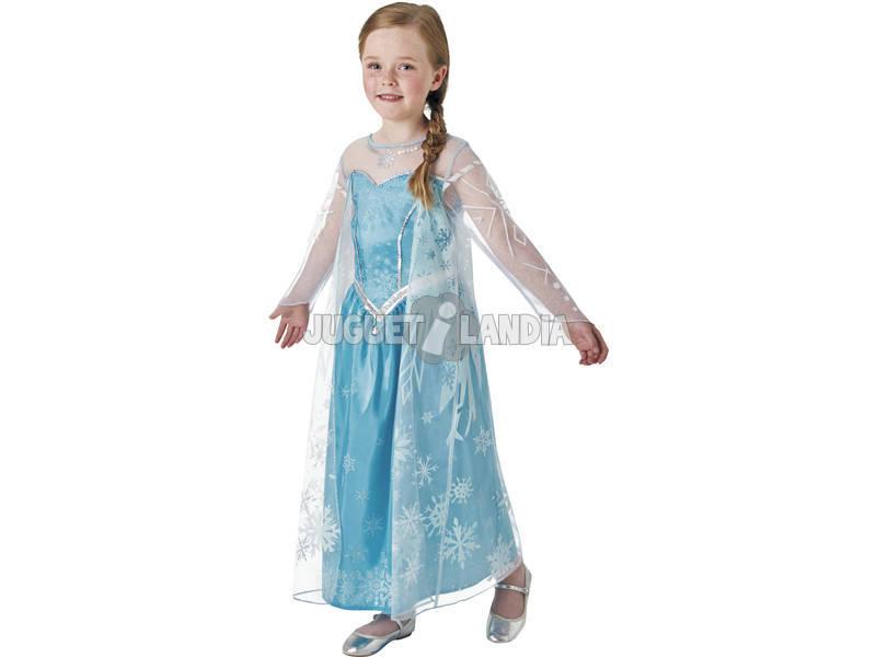 Disfarce Menina Frozen Elsa Deluxe T - M Rubies 630574